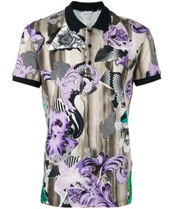 Versace Collection | Print Polo Shirt Size Small