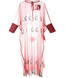 Jenny Fax   Sheer Mouse Appliqué Dress Size