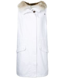 Army Yves Salomon | Hooded Long Gilet Women Cotton/Polyester/Coyote