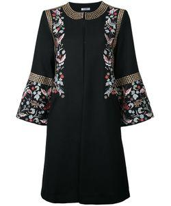 Vilshenko   Embroidered Flower Coat Size 8