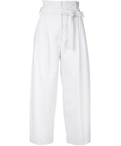 Alberta Ferretti | High-Rise Belted Cropped Trousers Cotton/Other