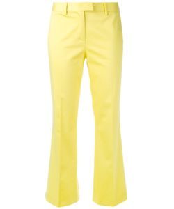 Boutique Moschino | Kick Flare Tailored Trousers Size 42 Cotton/Other