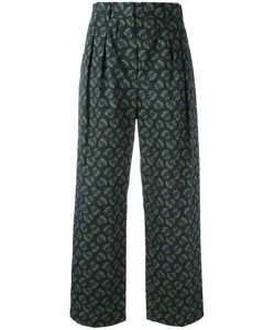 Hache | Wide-Legged Cropped Trousers 42 Cotton