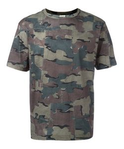Dries Van Noten | Panelled Camouflage Print T-Shirt Size Xl