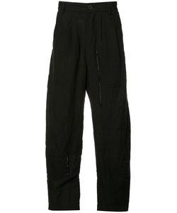 Ziggy Chen | Panelled Wide-Leg Trousers 46 Cotton/Linen/Flax/Ramie