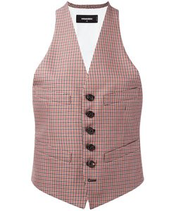 Dsquared2   Checked Waistcoat 44