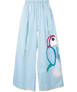 Mira Mikati | Embroidered Wide-Leg Trousers