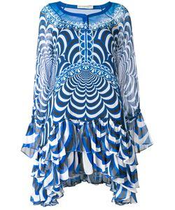 Mary Katrantzou | Ruffled Semi-Sheer Asymmetric Dress Women