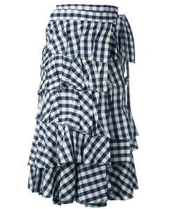 Erika Cavallini | Checked Ruffled Skirt