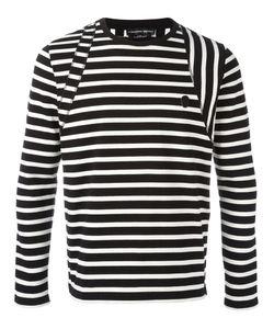 Alexander McQueen | Striped Skull Badge Jumper Small Cotton