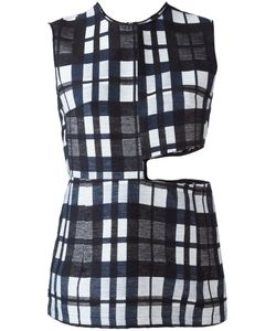 Ter Et Bantine | Cut-Out Checked Top