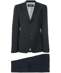 DSquared² | Buttoned Two-Piece Suit 42 Virgin Wool/Spandex/Elastane/Polyester