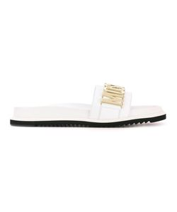 Moschino | Logo Plaque Slider Sandals