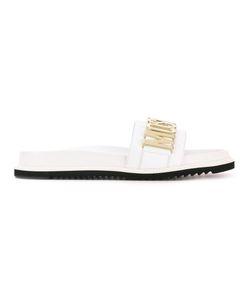 Moschino | Logo Plaque Slider Sandals