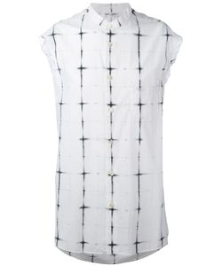 Saint Laurent | Tie Dye Plaid Sleeveless Shirt Men