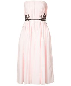 J. Mendel | Lace-Trimmed Pleated Gown