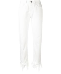 3X1   Fringed Ankle Skinny Jeans