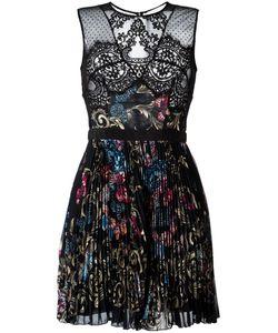 Zuhair Murad   Printed Pleated Dress 42 Viscose/Polyester/Nylon