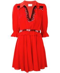 Giamba | V-Neck Flared Dress Size