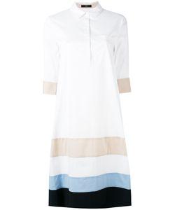 Steffen Schraut | Striped Panel Shirt Dress Size 36