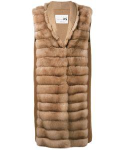 Manzoni 24 | Sleeveless Quilted Fur Jacket Women