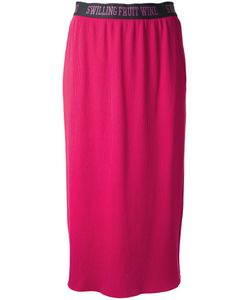 Muveil | Elasticated Waistband Straight Skirt 36 Cotton/Polyester