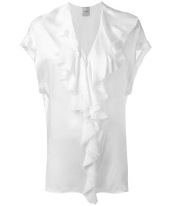 Nude | Ruffled V-Neck Blouse 42