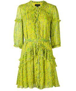 Saloni | Printed Frill Dress 8
