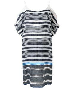 Lemlem   Striped Cold-Shoulder Dress S