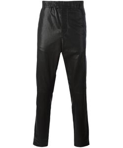 Ann Demeulemeester Grise | Leather Tapered Trousers Medium