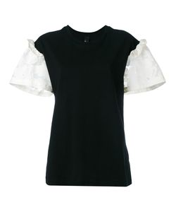 Mother Of Pearl | Lace-Panelled Jersey T-Shirt Size Medium