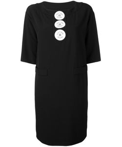 Boutique Moschino | Logo Button Shift Dress Size Polyester/Other