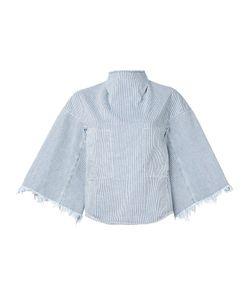 Toga   Striped Denim Blouse