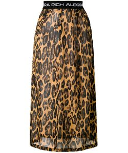 Alessandra Rich   Leopard Print Skirt Size 40