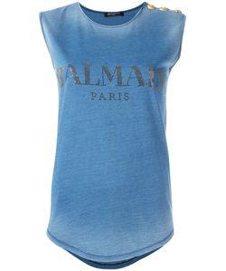 Balmain | Logo Print Tank Top 38 Cotton