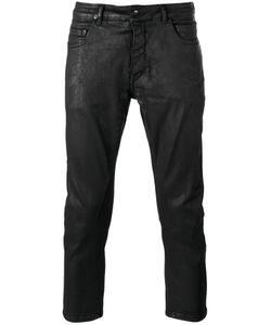 Rick Owens DRKSHDW | Waxed Cropped Jeans Size 34 Cotton/Spandex/Elastane/Polybutylene