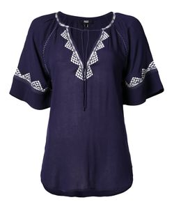 Paige | Embroidered Shortsleeved Blouse S