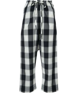 Forme D'expression | Gingham-Print Cropped Trousers Size Xs