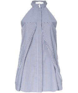Dion Lee | Checked Halterneck Blouse 12 Cotton