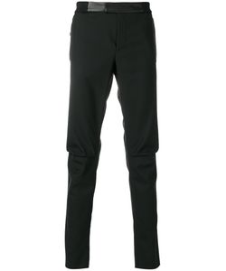Les Hommes | Patch Detail Skinny Trousers Men Cotton/Leather/Polyester/Virgin