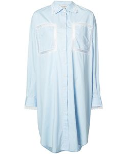 Natasha Zinko | Lace Panel Shirt Dress