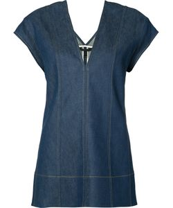 Derek Lam | V-Neck Denim Top Size 44
