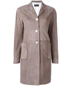 Kiton   Single Breasted Leather Coat 42