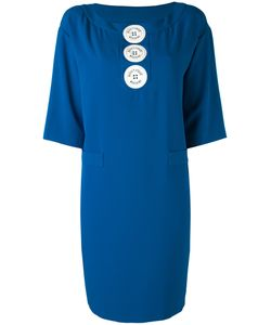 Boutique Moschino | Logo Button Shift Dress Polyester/Other