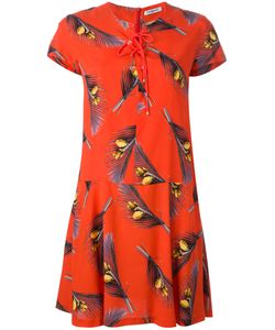 Cacharel | Feather Print Shirt Dress 34