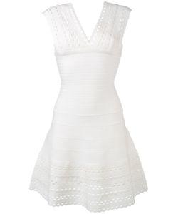 Hervé Léger | Cut-Out Details Flared Dress