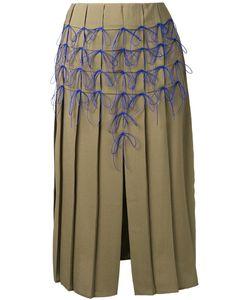 Marco de Vincenzo | Bow Applique Pleated Skirt