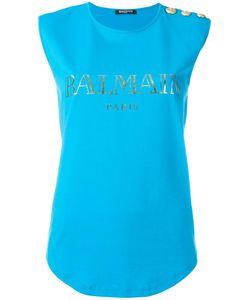 Balmain   Logo T-Shirt 40 Cotton