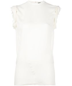 Dsquared2 | Ruched Cap Sleeve Top 38 Silk