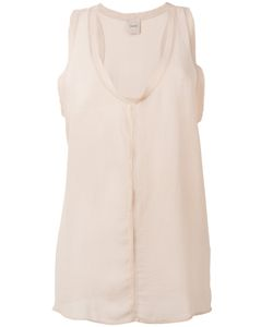 Nude | Semi-Sheer V-Neck Tank 46